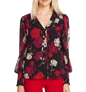 Vince Camuto Long Sleeve Smocked Cuff Blouse
